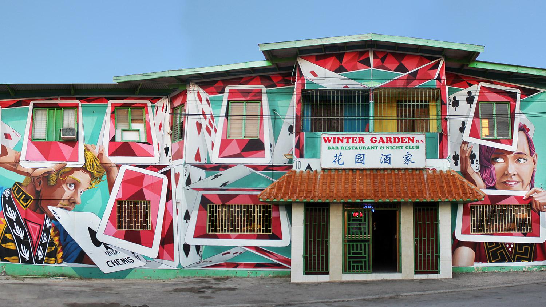 Aruba, art fair, festival, event, chemis, mural, street art