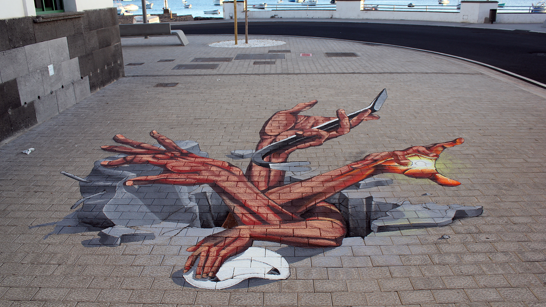 Lanzarote-3D-streetart-anamorphic-chemis-festival
