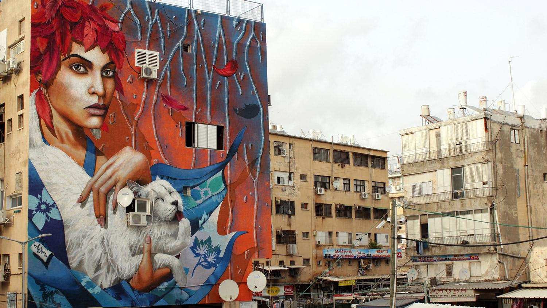 Netanya-Israel-cats-graffiti-chemis