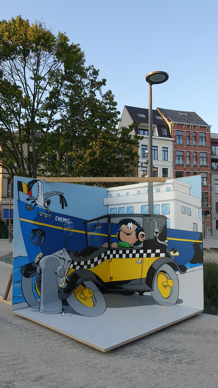 captain, antwerpen, festival, 3D mural , mural, graffiti, art, chemis, leon keer, wild drawings